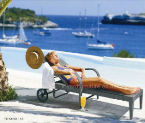 PE Rattan Wicker Outdoor Furniture Beach Daybed (L650) pictures & photos