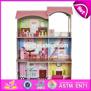 Best Preschool Pretend Play Large Wooden Kids Doll House Set W06A248 pictures & photos