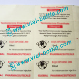 Global Logo Plastic Printing Labels for 10ml Injection Vial Use pictures & photos