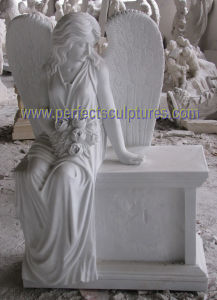 Marble Granite Angel Tombstone with Angel Monument Angel Headstone (SY-X1732) pictures & photos