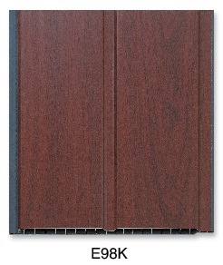 Grooved Laminated PVC Panel (E98K) pictures & photos