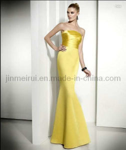 Elegant Satin Evening Dress (JM-036)