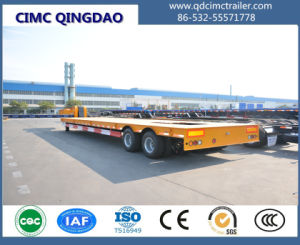 Cimc 2 Axles 40tons Flatbed Low Bed Semi Truck Trailer Chassis pictures & photos