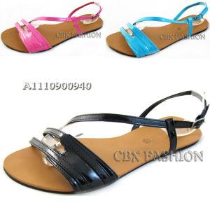 2014 Fashion PU Ladies Flat Heel Sandals Shoes (A111000940)