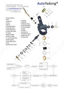 Kamaz Brake Part Slack Adjuster 500-3501136 pictures & photos