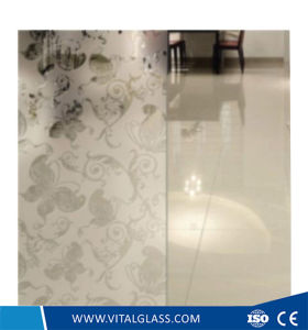 4mm-6mm Silk-Screening Decorative Art Glass with CE & ISO9001 pictures & photos
