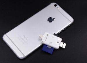 External Device OTG USB Micro SD and SD Card Reader Support for iPhone and Andorid Phone (OM-P905) pictures & photos