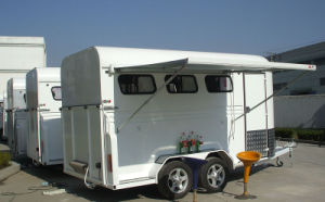3 Horse Floats Angle Load Deluxe With Awning&Alloy Wheels (GW-3HAL) pictures & photos