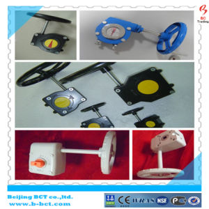 CAST IRON BODY DK BUTTERFLY VALVE WAFER TYPE WITH HANDLE OR GEAR WORM BCT-DKD71X-8 pictures & photos