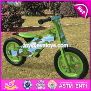 New Design Original Work Cartoon Wooden Balance Bike Without Pedals for Toddlers W16c175 pictures & photos