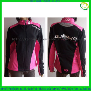 Custom Women′s Windproof Cycling Coat with Screen Printing Logo pictures & photos