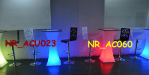 Wedding Acrylic LED Bar Cocktail Table Furniture (NR-AC060)