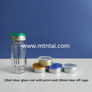 Screen printing on the tubular glass vials/Single color print pictures & photos