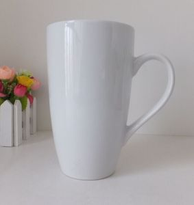 Plain White Color Glazed Ceramic Tea Cup (WSY929M)