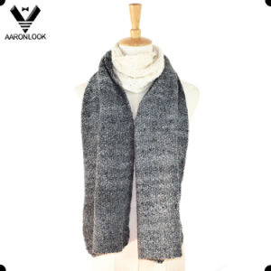 Fashionable Acrylic Loop Yarn Jacquard Joint Knitted Scarf pictures & photos