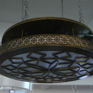 Chinese Style Antique Brass Round Glass Ceiling Lamp pictures & photos