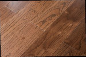 Oak Brushed Wire Drawing Oiled 3 Layer Wood Flooring 15mm Golden Color pictures & photos