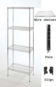 Warehouse Use Chrome Wire Shelving with 4 Layers 18′′x36′′ (SII-MWS07) pictures & photos