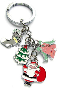 Christmas Tree Boot Hat Santa Claus Festival Keychain (K413)