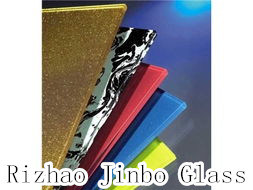 Silk Screen Printing Glass, Glazed Colored Glass, Enamel Glass with High Quality (JINBO) pictures & photos