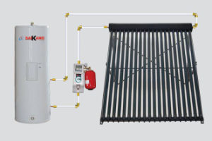 Seperated Pressurized Solar Water Heater with Heat Pipe Solar Collector