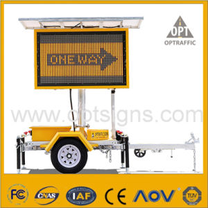 2 Cost Effective Amber Variable Message Signs Trailer Mounted Vms pictures & photos