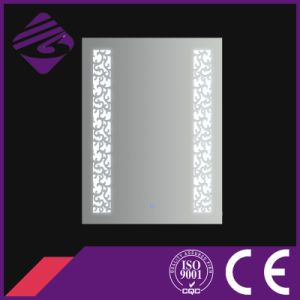 Jnh233 New Arrival Oval Bathroom Glass Mirror with Clock pictures & photos