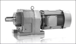 Fr in-Line Helical Gear Reducer with Motor Helical Gearbox pictures & photos
