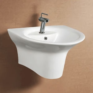Sanitary Ware Wall Hung One Piece Basin for Bathroom (ON-0505)