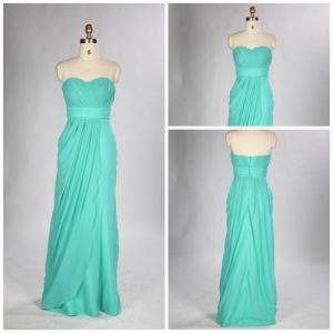 Emprie Sweetheart Floor Length Chiffon Evening Dress with Ruffle (js0438)