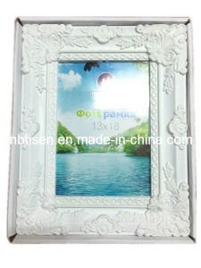 White Plastic Picture Frame/Photo Frame Hf803-3