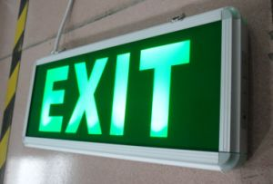 4W LED Rechargeable Emergency Exit Sign Light (QH3456)