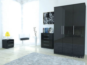 Toronto Gloss Black Bedroom Furniture Set (HF-EY080912) pictures & photos