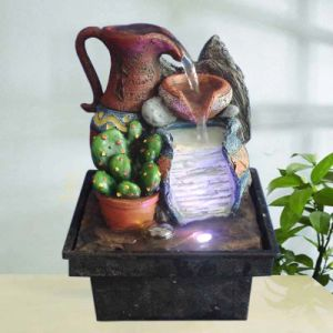 Resin Min. Fountain W/ LED Light(SY908024)