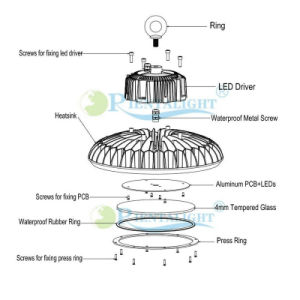 5 Years Warranty High Brightness UFO 200W LED Highbay Light pictures & photos