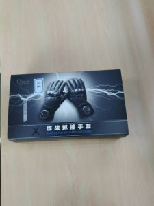 Police Electric-Shock Taser Gloves with Leather pictures & photos