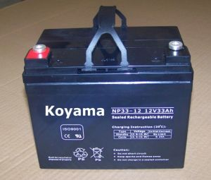 High Quality AGM Battery (NP33-12) 12V33ah pictures & photos