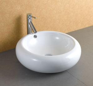Washroom Single Bowl Ceramic Sink