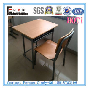 High Quality Student Single Wooden Desk & Chair (SF-01F) pictures & photos