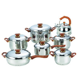 14PCS Stainless Steel Cookware Set with Whistling Kettle pictures & photos
