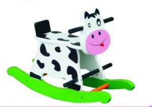 Cute Wooden Baby Chair Cow Rocker for Kids and Children pictures & photos