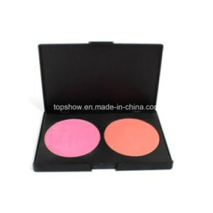 Private Label No Logo 2 Colors Cosmetics Eye Shadow Palette Double Color Blusher Palette H2#3