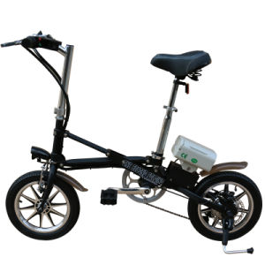 36V 250W Carbon Steel Electric Folding Bike pictures & photos