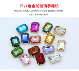 Rectangle 10*14 Rhinestones Sew on Glass Strass Stones for Dance Costume (SW-10*14mm) pictures & photos