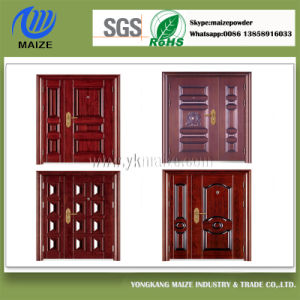 Customized Grained Wood Powder Coating Applied by Heat Transfer pictures & photos