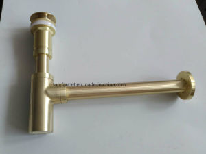Brushed Gold Stunning Basin Brass Bottle Trap Sewer Pipe pictures & photos