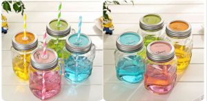 8oz Eco Tapered Glass Mason Jar with Silver Metal Lid Screw Top pictures & photos