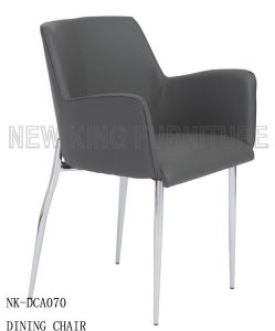 Modern Low Back Soft Comfortable Armrest Stainless Dining Chair (NK-DCA070) pictures & photos