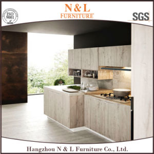 High Gloss Lacquer and Veneer Combination modern Style Wood Kitchen Cabinet pictures & photos