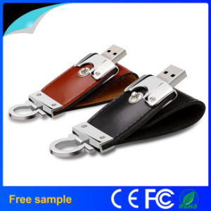 Promotion Gift Leather Key Chain USB Flash Disk pictures & photos